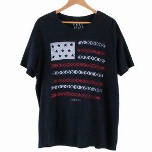 Free State Aztec USA Flag Graphic Tee Size L